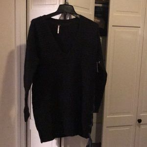 NWT free people black tunic sweater